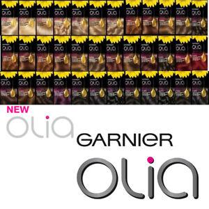 GARNIER OLIA Permanent Hair Dye Colour NO AMMONIA Blonde Brown Dark Red Black
