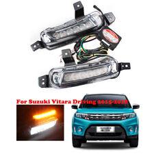 LED For Suzuki Vitara Driving 2015-2018 Daytime Running Light DRL Fog Lamps Pair