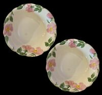 "2 FRANCISCAN DINNERWARE DESERT ROSE PATTERN LOT OF TWO SERVING BOWLS 9"" EUC"
