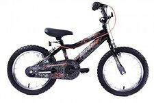 "Spider Boys 16"" Wheel Spiderman Style BMX Bike Spider Web Single Speed Black"