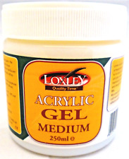 Loxley Acrylic Gel Medium - Gloss Enhancer Thickener - 250ml Pot