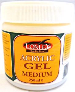 Loxley Acrylic Gel Medium / Transfer Medium - Gloss Enhancer Thickener - 250ml