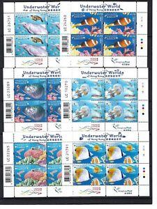 China HONG KONG 2019 Mini S/S Underwater World stamps set Coral Fish