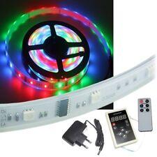 5m SET Lauflicht Stripe RGB Led inkl Controller Netzteil / Strip Leiste Streifen