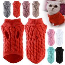 More details for mini winter pet clothes jumper sweater puppy sweater coat outfits for small dogs