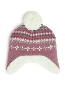 John Lewis  Baby/GIRLS Fairisle Embroidered Hat, Multi SIZE 0-3 MONTHS NEW