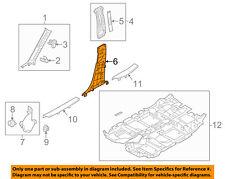 MAZDA OEM 17-18 CX-5 Interior-Lower Center Pillar Trim Left KB7W6823002