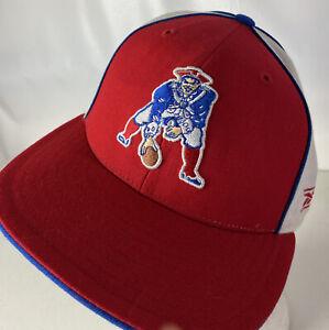 New England Patriots Reebok Hat Cap Gridiron Classics Fitted Sz 7 1/4 Retro NFL