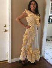 Ballroom Flamenco Tango Salsa Paso Latin Dance Dress Costume Spanish Gown S-M
