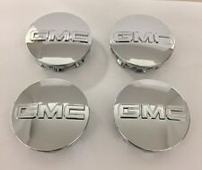 "4 GMC Sierra 1500 Yukon Denali 2014-2018 Center Wheel Caps OEM 3.25"" #20942032"