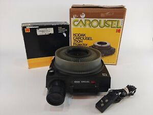 Kodak 750H Carousel Slide Projector With Remote And Power & Tested Working
