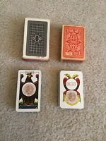Vintage Italian Playing Cards 2 Decks With Tax Stamp 1962 & 63