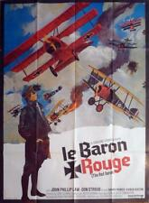 THE RED BARON - PLANE / CORMAN / SKY / WAR - ORIGINAL LARGE FRENCH MOVIE POSTER
