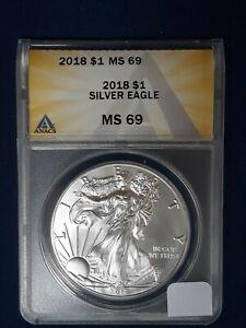 2018 MS69 Silver Eagle Anacs #6154273