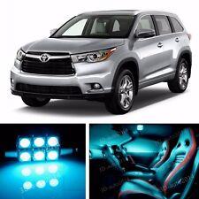 14pcs LED ICE Blue Light Interior Package Kit for Toyota Highlander 2014-2016
