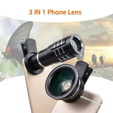 Universal Wide Angle Lens 12x Telephoto 12.5x Macro Camera Lens w/Clip For Phone