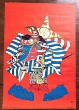 Acid Man - Vtg 60s Psychedelic Art Mark Konen Screen Print Poster San Francisco