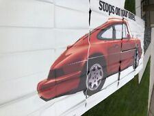 1989 Porsche 911 Carrera 4 Coupe Full Sized Outdoor Advertising Billboard RARE!!