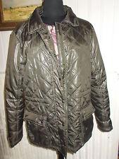 Veste matelassée surpiqué polyester kaki CAROLL L 40/42 poches à revers