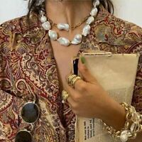 Baroque Irregular Simulated Pearl Jewelries For Women Elegant Statement Necklace