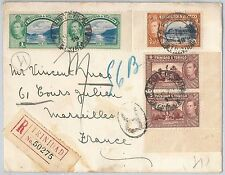 TRINIDAD & TOBAGO   -  POSTAL HISTORY -  Registered COVER to FRANCE 1938