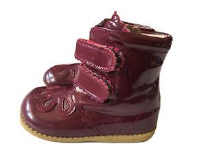 EUC Girls Shoes Boots Livie & Luca Floret Petal Burgundy 8