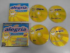 DISCO ALEGRIA 2 TODOS THE SUCCESSES OF THE VERANO 4 X CD FAT BOX SET DANCE HOUSE