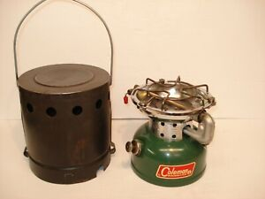 COLEMAN 502 SINGLE BURNER STOVE WITH COLEMAN HEATER