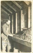 C-1910 Occupation Worker overalls farming Agriculture berry sorting RPPC 4553