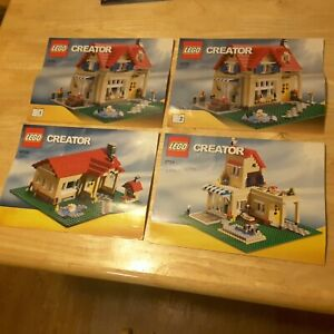 LEGO 6754 Creator Family Home MANUALS ONLY NO LEGO with INK writing on covers