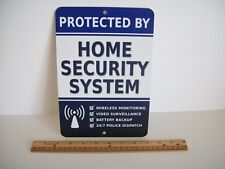 "Home Security Alarm System 7"" x 10""  Metal Yard Sign - Stock # 713"