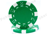 DICE POKER CHIPS 11.5g White Red Blue Green Black PACK 50 CASINO SIZE CHIP