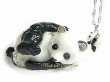 Playful Panda Bejeweled Trinket Box
