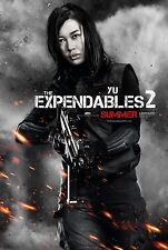 "The Expendables 2 movie poster - Nan Yu - 13.5"" x 20"" - Original"