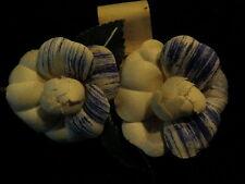 """Vintage Millinery Flower Blue 1 1/2"""" made in Paris France Hat Wedding Hair Y184"""