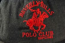 "Vintage ""Beverly Hills Polo Club"" Logo Gray LARGE Adjustable Hat Cap"