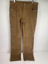 BROOKS BROTHERS Mens Pants 36x34 Corduroy 5 Pocket Straight Leg Tan Carmel Color