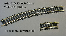 ATLAS HO CODE 100 15 INCH CURVE TRACK SECTIONS nickel silver rail ns 151 NEW