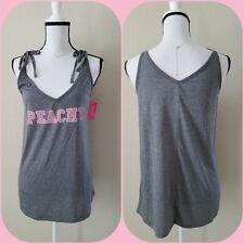 "Xhilaration Gray w//Pink /""Peachy/"" Tank Top Sleepwear Pajamas UPick Size NEW TL49"