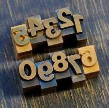 0-9 Zahlen 18 mm Plakatlettern letterpress Letter Ziffern Stempel Zahl number