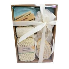 Bath Beauty Gift Set Loofah Cellulite Massager Skin Exfloating Brush 6 Piece