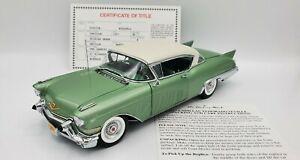 1957 Cadillac Seville Hardtop Elysian Green by Danbury Mint 1:24 Diecast w/title