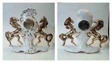 Orologio da Tavolo in ceramica con cavalli marca Kaiser West Germany 1950
