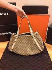 100% Authentic Gucci Beige GG Canvas Medium Abbey Tote Bag Hangbag wallet purse