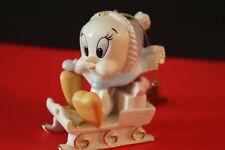 Lenox Tweety Bird Figurine - 2004 Tweety's Sled Ornament