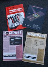 RARITÄT FÜR SAMMLER - 4 MOTOROLA INFORMATIONSBLÄTTER VON 1981 / 1982 / ??