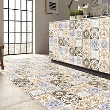 5M Gold Vintage Portuguese Spanish Style Backsplash Floor Sticker Mural Tile
