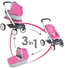 Smoby Quinny 3in1 Puppenwagen Pink/grau 7600253197