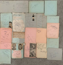 More details for many signatures mainly from the 1930s includes portsmouth/millwall