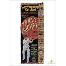 THAT'S CRICKET (DON BRADMAN) 1931 MOVIE POSTER FULL COLOUR REPRODUCTION PRINT